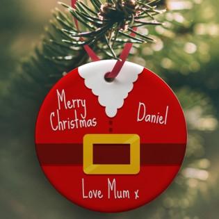 Ceramic Bauble - Santa Christmas Bauble