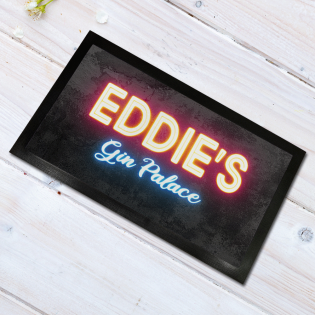 Personalised Bar Runner Gin Palace Neon 44x25cm