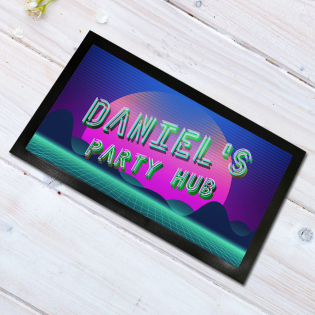 Personalised Bar Runner Party Hub Neon 44x25cm