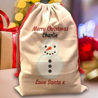 Santa Sack - Snowman
