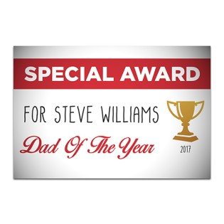 Aluminium Wall Art - Special Award Person Of The Year