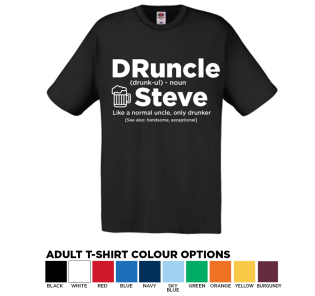 Personalised Original T-shirt DRUNCLE- Drunk Uncle