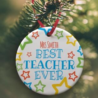 Ceramic Bauble - Best Teacher Ever