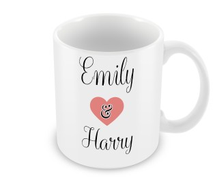 Personalised  Valentines Day Couple Mug