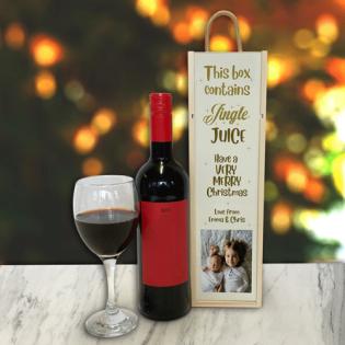 Personalised Wine Box Jingle Juice Photo Upload