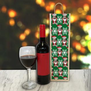 Personalised Wine Box Santa Body Photo Upload