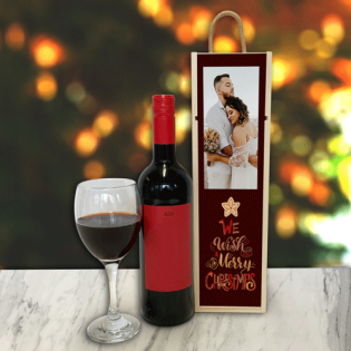 Personalised Wine Box We Wish You A Merry Christmas