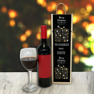 Personalised Wine Box Black Present