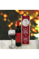 Personalised Wine Box Snow Flakes Red Photo Upload & Text