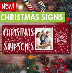Personalised Metal Christmas Signs